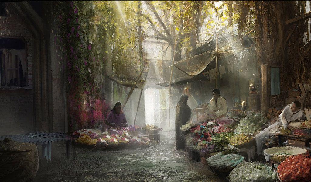 Concept Art : Oriental Market by Gycinn on DeviantArt