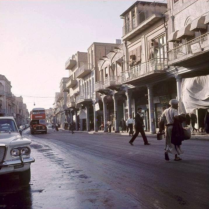 بغداد شارع الرشيد سنة 1968 صورة توثيقية Baghdad Iraq Baghdad Mesopotamia