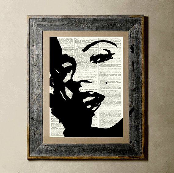Items similar to Vintage Art Print 8x10 recycled upcycled