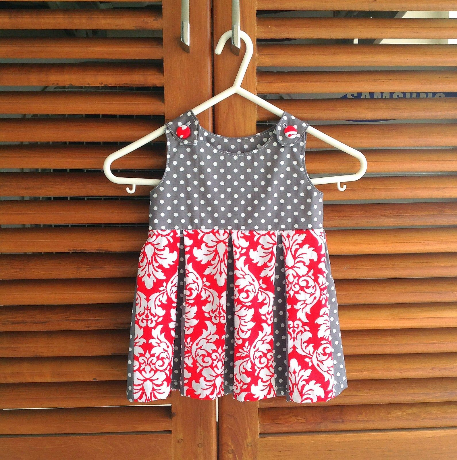 Box Pleated Dress, Baby/ Toddler Dress Sewing Pattern, Newborn to Two Years
