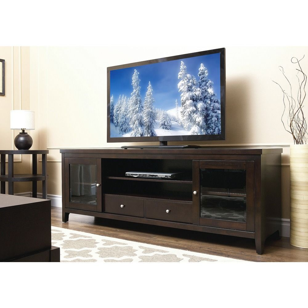 Abbyson Living Charleston Solid Wood 72inch TV Console Overstock