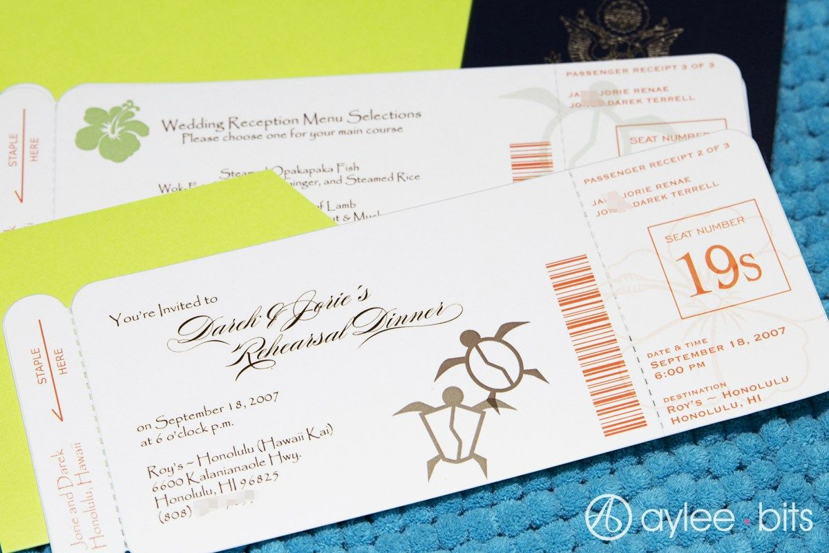 DIY Boarding Pass Invitation / Save The Date