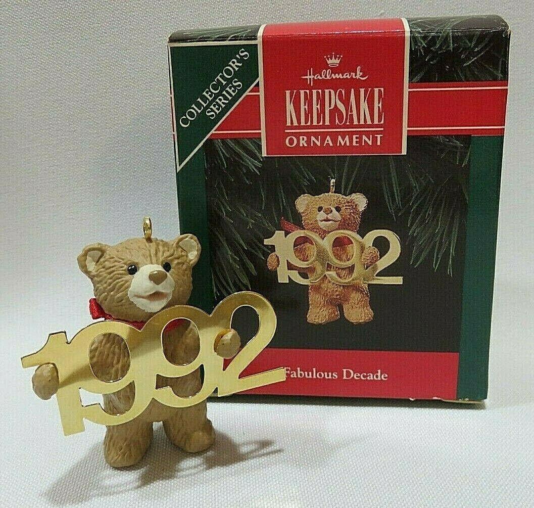 1985 Hallmark Porcelain Bear Ornament Vintage Hallmark Third Cinnamon Bear Series Ornament