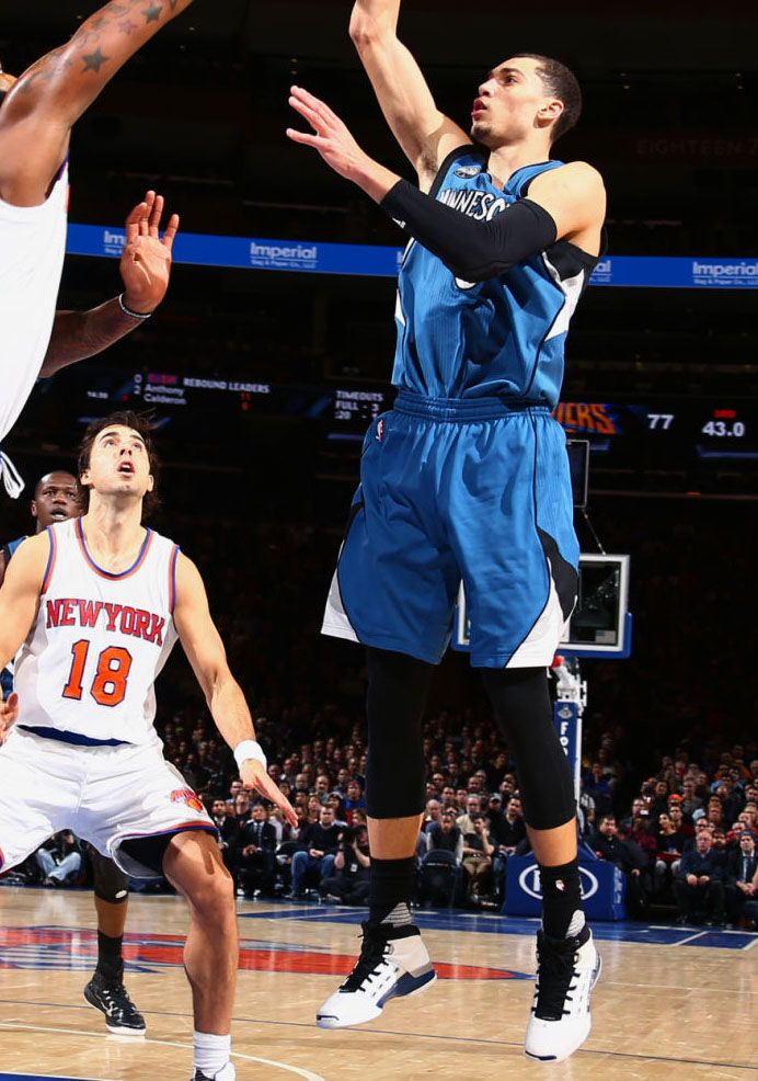4ee1b6a5c66d  SoleWatch  Zach LaVine Unlocks the  College Blue  Air Jordan 17 at MSG