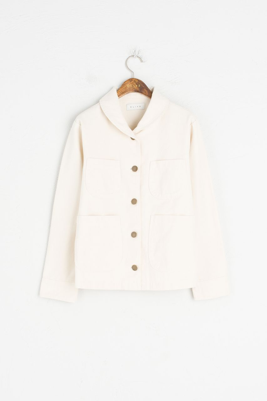 Olive - Round Collar Cotton Jacket, Ivory, £79.00 (http://www.oliveclothing.com/p-oliveunique-20170206-011-ivory-round-collar-cotton-jacket-ivory)