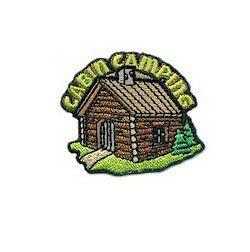 Cub Boy Girl Scout Fun Badge Patch ~Cabin Camping