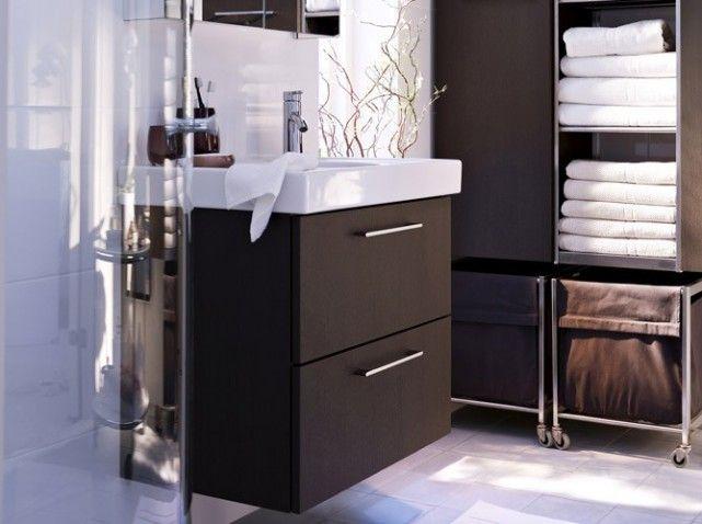 petit meuble salle de bain sur pied