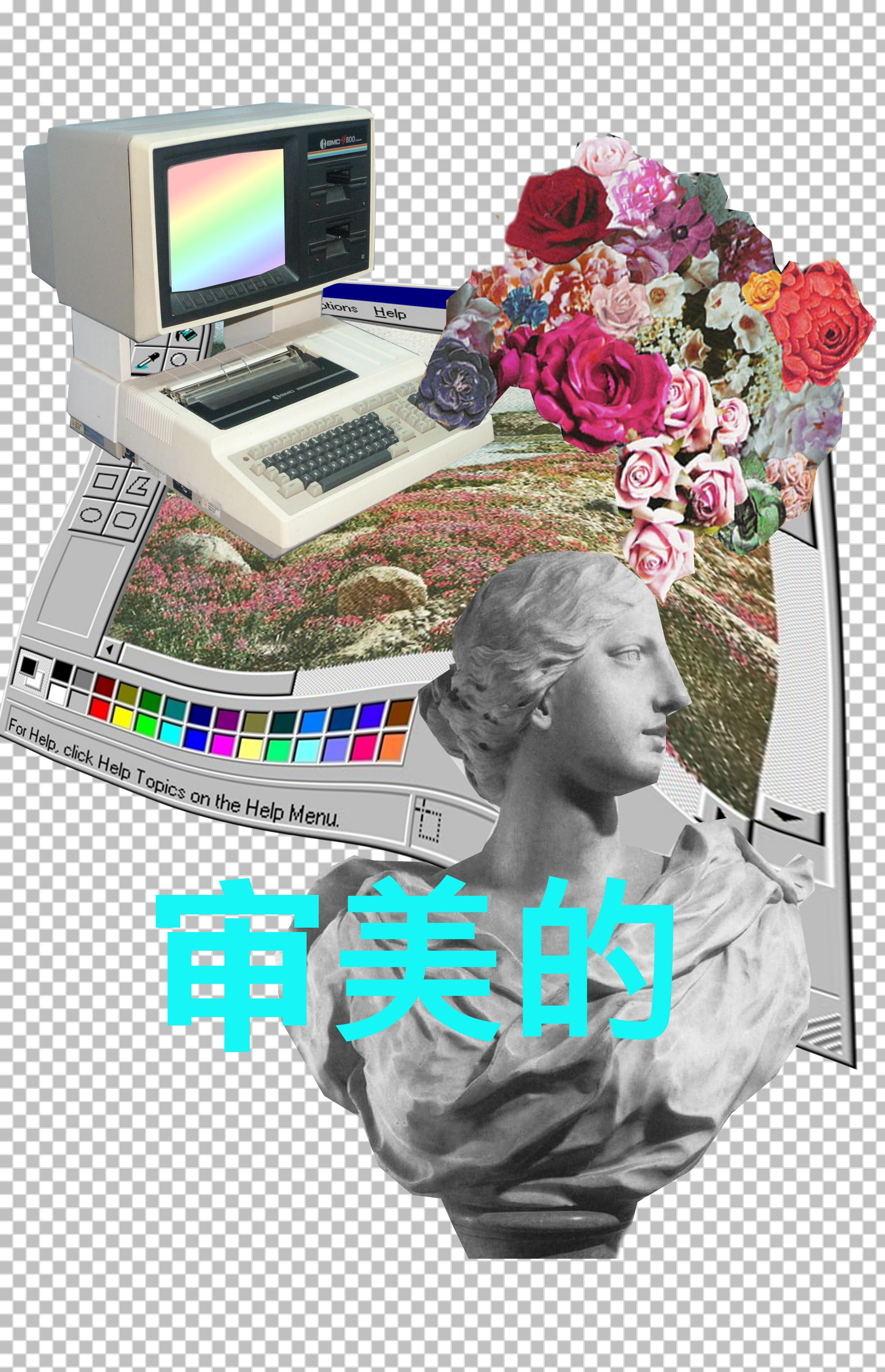 Vaporwave iphone wallpaper tumblr - Paint A Pretty Picture With Flowers And Such Follow Http Capersnvapors Tumblr Vaporwave