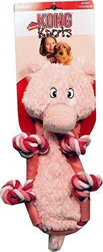 Kong Barnyard Knots Pig Durable Multi Layered Fabric Soft Rope Dog