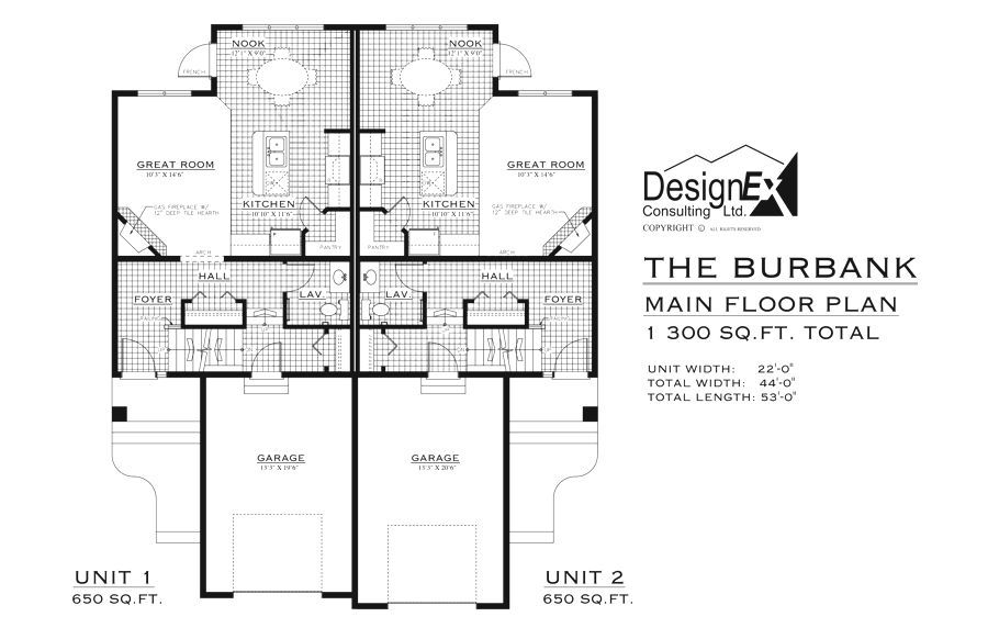 Edmonton duplexes or semi detached homes blueprints house plans edmonton duplexes or semi detached homes blueprints malvernweather Choice Image