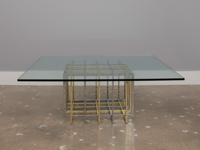 Wonderful Pierre Cardin Brass And Chrome Coffee Table