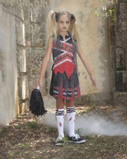 zombie cheerleader costume for girls