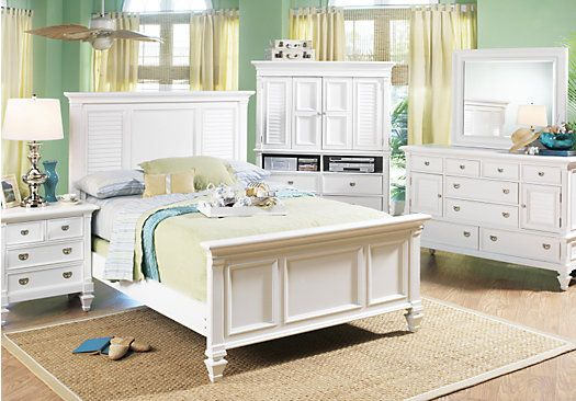 Picture Of Belmar Queen White 7pc Panel Bedroom From Sets Furniture