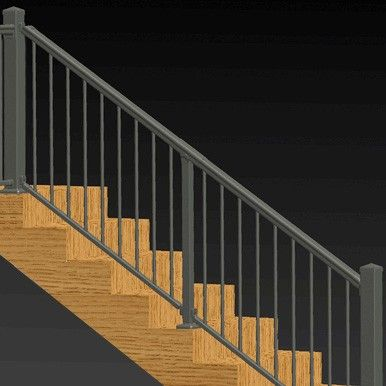 Adjustable Angle Stair Rail Kit By Solutions Aluminum Railing   Installing Wood Balusters On An Angle   Stair Parts   Stair Spindles   Banister   Knee Wall   Handrails