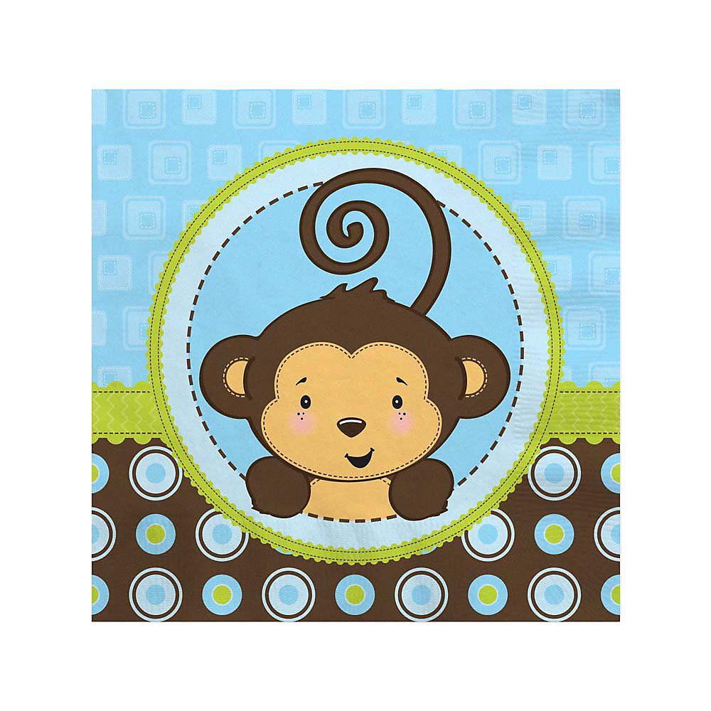 monkey boy baby shower beverage napkins babyshowerstuff com