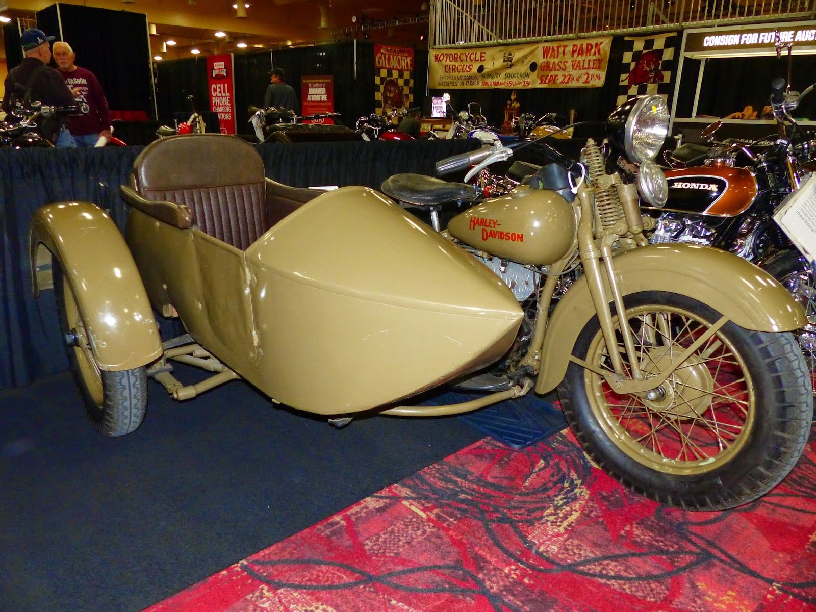 1942 Harley Davidson Wla With Sidecar For Sale At The 2015 Mecum Las