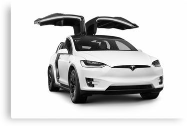 White Tesla X Luxury Suv Electric Car With Open Falcon Wing Doors Art Photo Print Canvas Print By Awenartprints In 2021 Luxury Suv Sports Cars Luxury Tesla X
