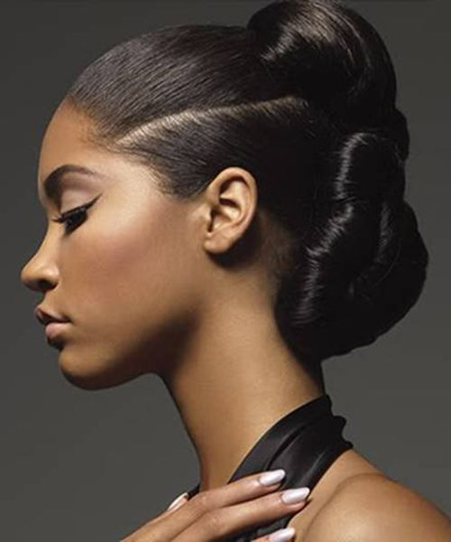 Brilliant 1000 Images About Updos On Pinterest African American Weddings Short Hairstyles For Black Women Fulllsitofus