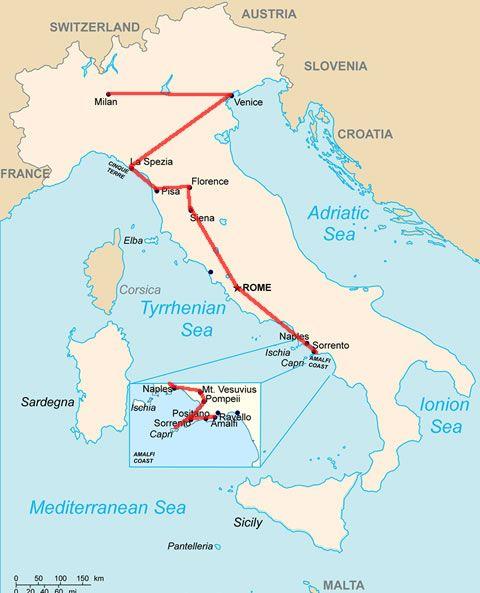 Kartta Verona Eurooppa Ohjelmalliset Matkat Ok Matkat