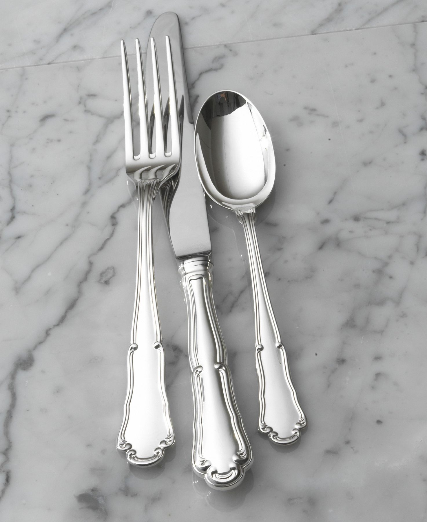 """Wallace """"Barocco"""" Sterling Silver 4-Piece Place Setting"""
