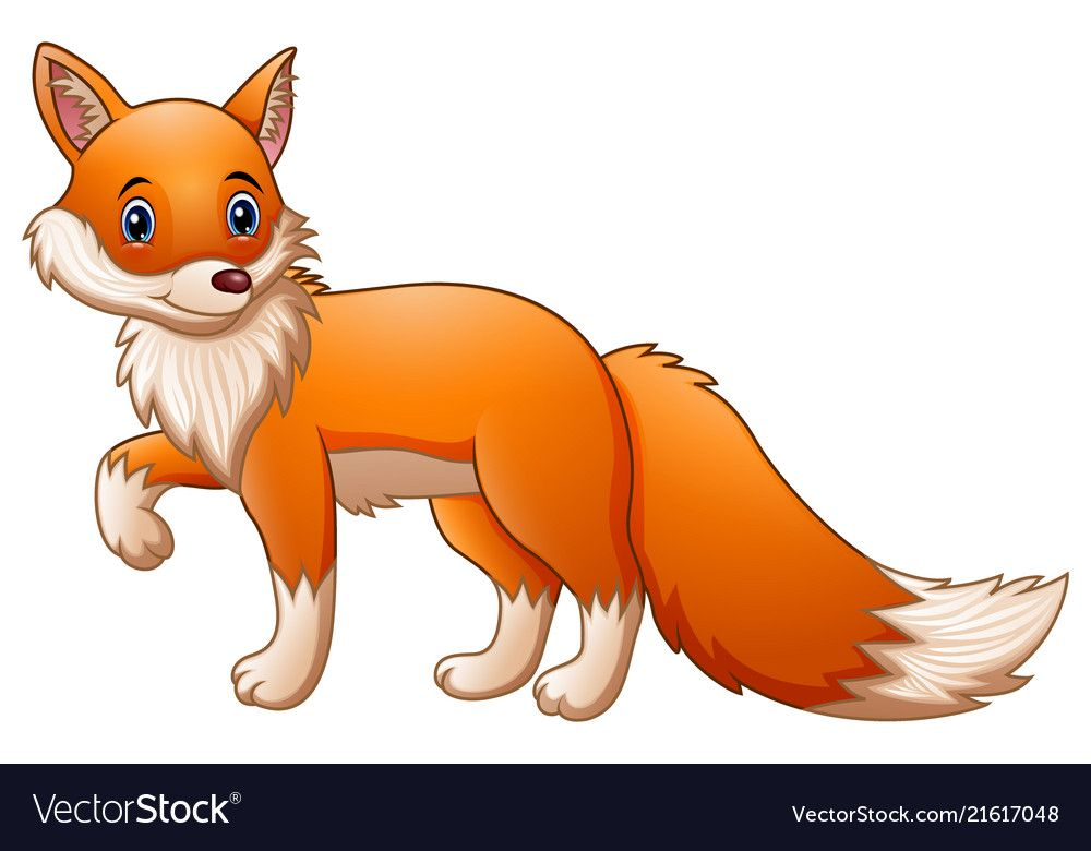 illustration of Cute fox cartoon. Download a Free Preview
