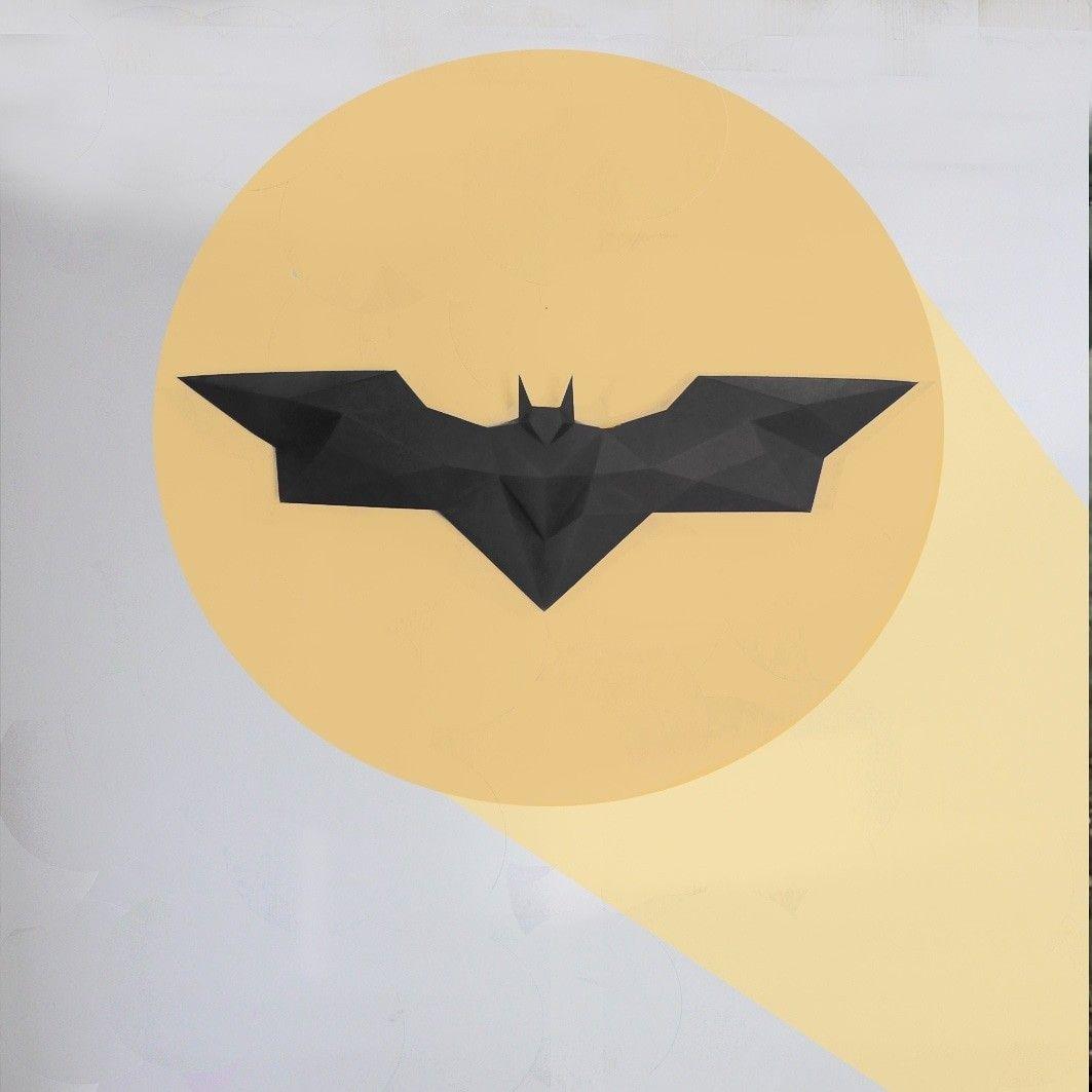 Batman logo wall decor hanging batman DIY gift papercraft home ...