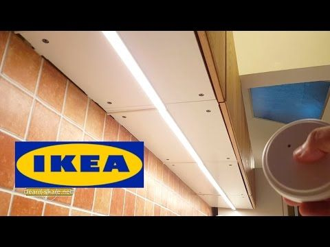 Ikea led under cabinet lighting Omlopp Ikea Kitchen Lighting Omlopp How To Install Countertop Led Light Youtube Pinterest Ikea Kitchen Lighting Omlopp How To Install Countertop Led Light