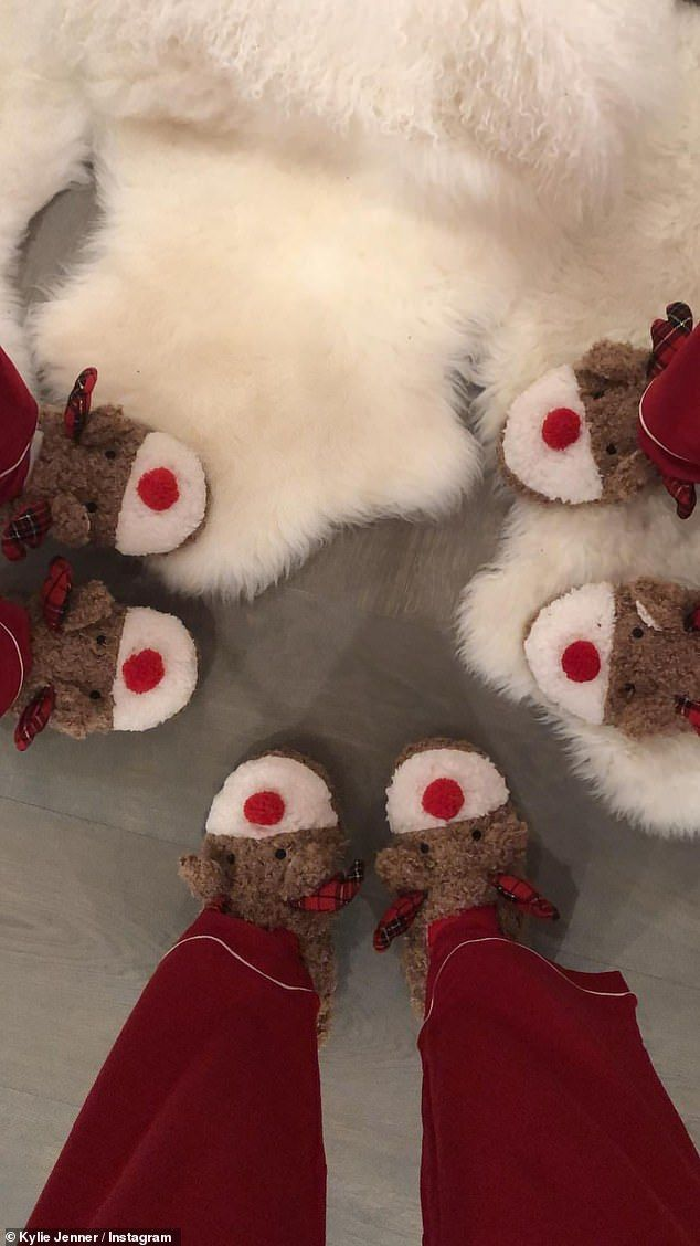Kylie Jenner hosts pyjama Christmas party with her