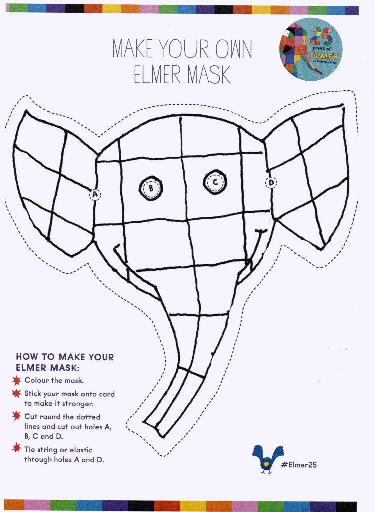 Make your own Emler mask! #Elmer25 | Infantil i juvenil | Pinterest ...