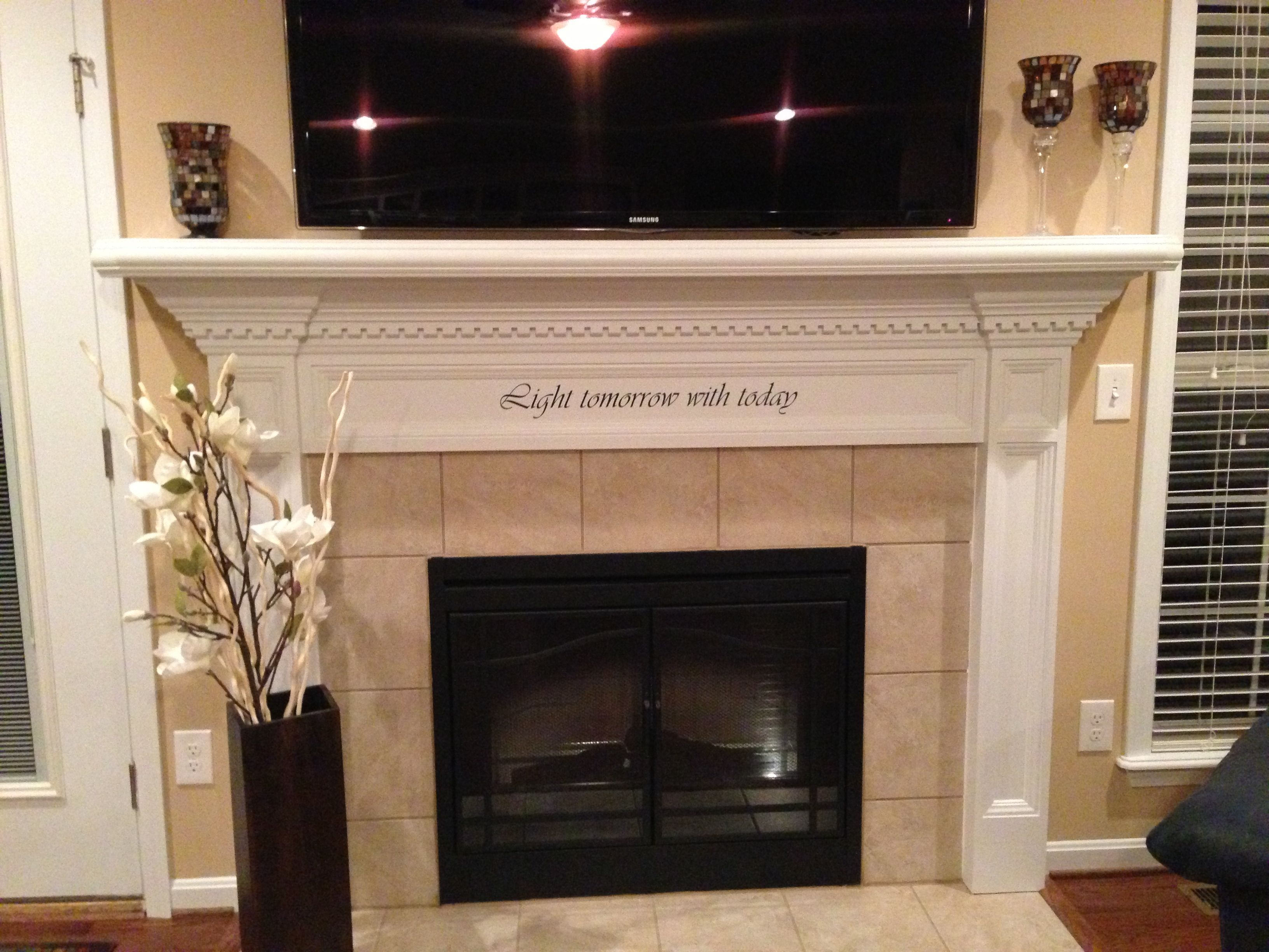 Fireplace Mantel Wall Decal Lamps For Fireplace Mantels Lovely