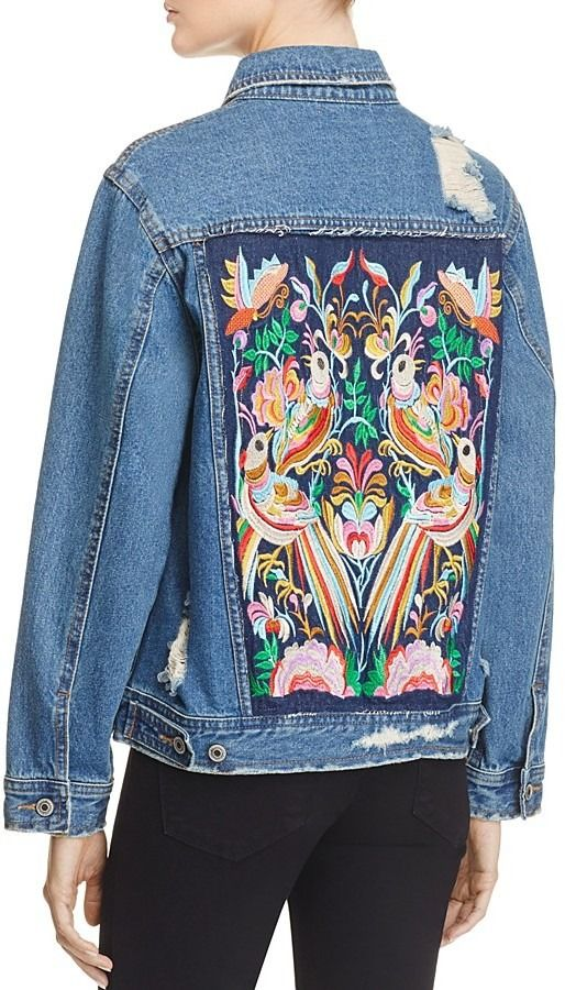 64ec5bfcf Sunset & Spring Embroidered Back Denim Jacket on ShopStyle ...
