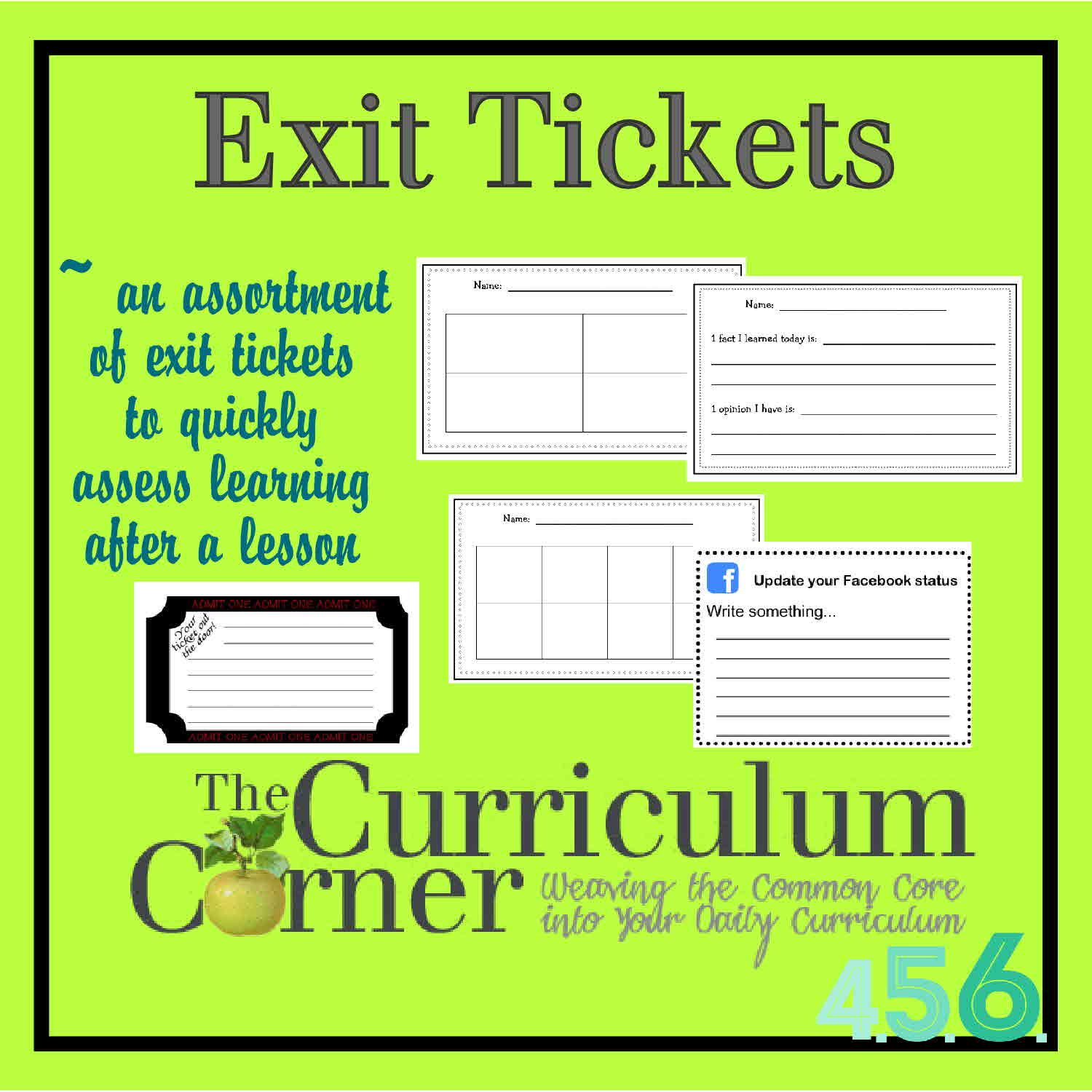 AllPurpose Exit Tickets You Can Use To Make Sure Your Students
