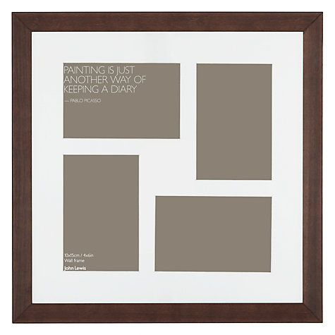 John Lewis Multi Aperture Gallery Frame Chocolate 4 Photo 4 X 6 10 X 15cm Frame Gallery Wall Layout Picture Frames