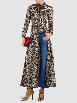 80ce9439e81 Ganni - Dufort Printed Stretch-Silk Maxi Dress