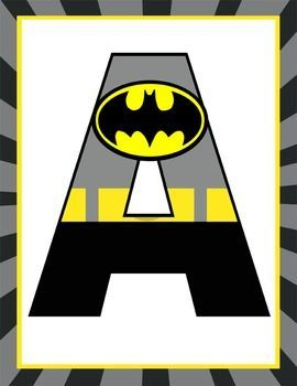 super hero classroom decor batman banner letters - Free Printable Batman Pictures