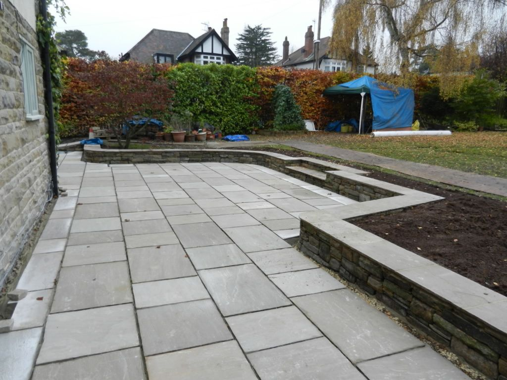 The Patio Area Was Prepared With Hard-core Stone And