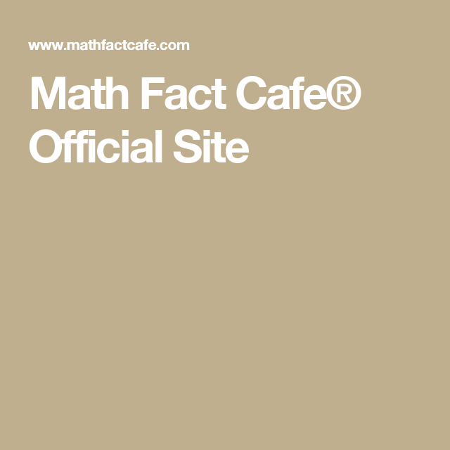 Math Fact Cafe Official Site Numeracy Boards Pinterest Math