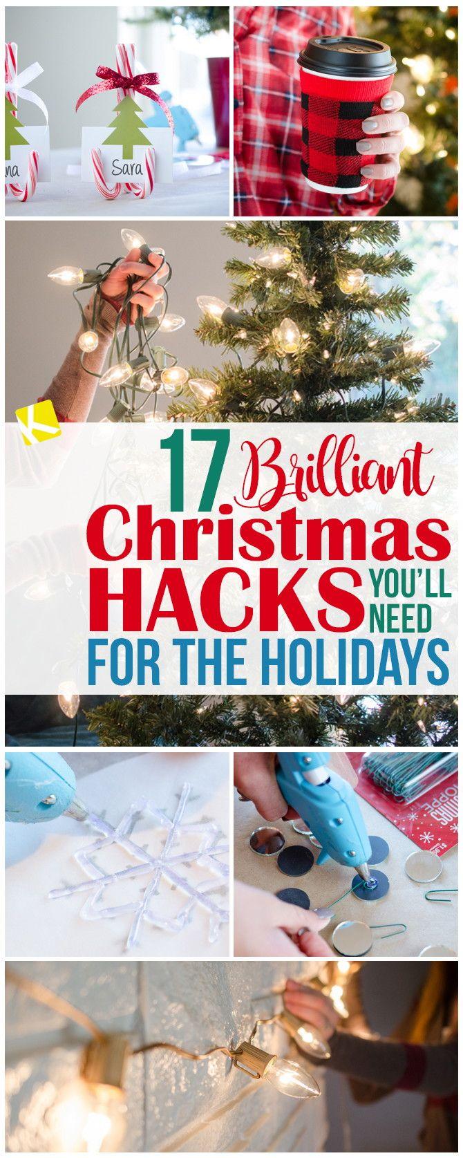 17 Brilliant Christmas Hacks You'll Need for the Holidays -   15 holiday Hacks good ideas