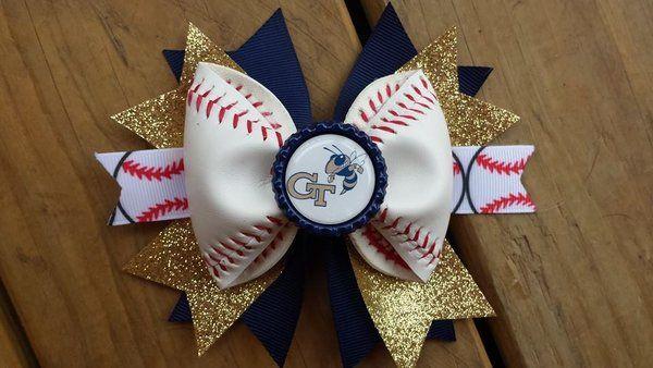 Georgia Tech Baseball Hair Bow  $11
