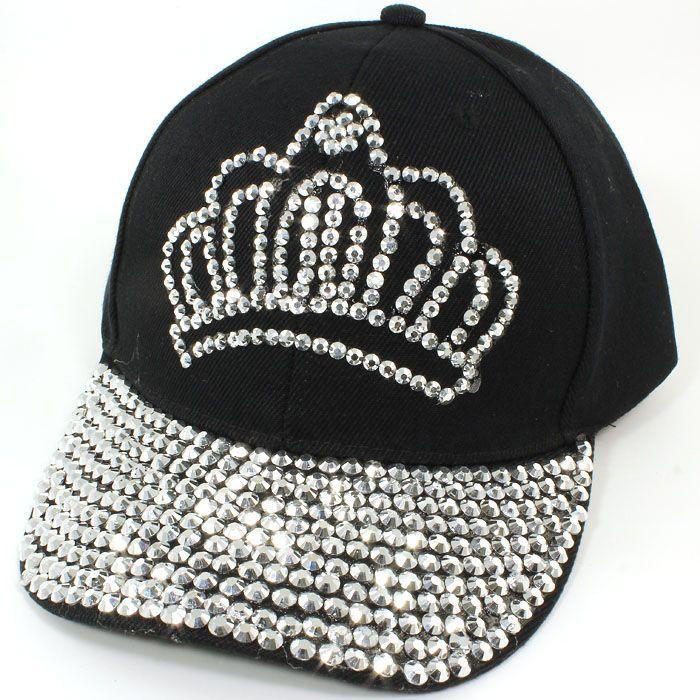 bf729f5b9 Princess Tiara Crown Studded Baseball Cap | Fashion - Hats ...