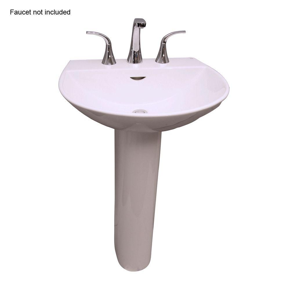 Barclay Products Reserva 600 22 In Pedestal Lavatory Sink Combo