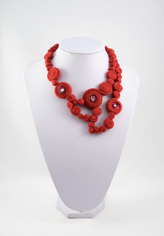Necklacefabric necklacetextile necklacetextile por AnnaPerenaIdeas