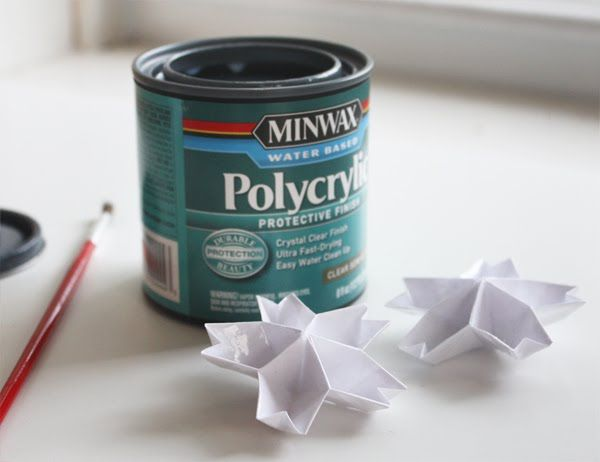 Make origami shiny and sturdy with polycrylic coating