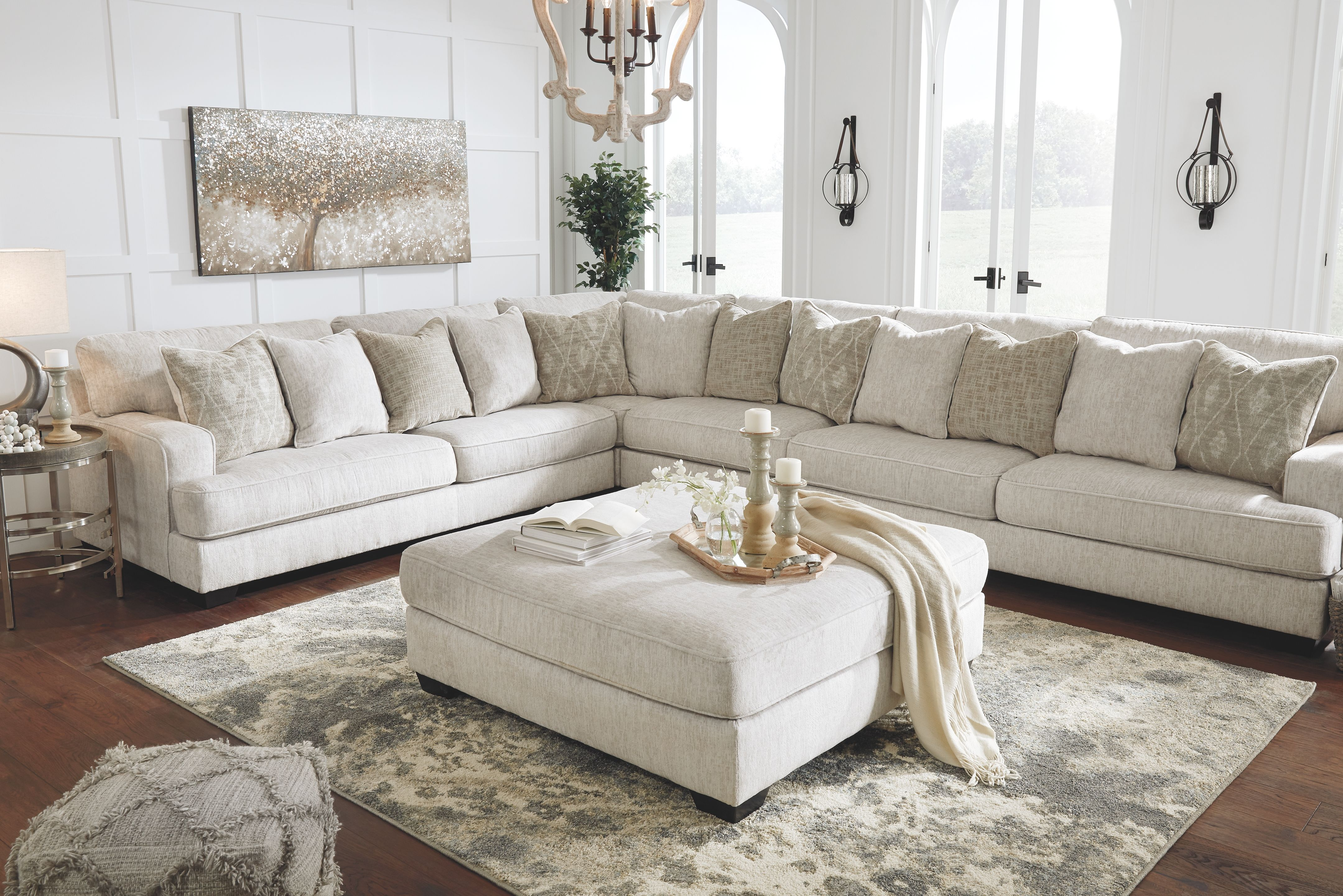 Rawcliffe Oversized Accent Ottoman In 2020 Sectional Living Room Layout Ashley Furniture Living Room Ottoman In Living Room #white #living #room #sectional