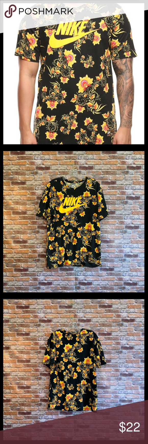 Nike Floral Tee Floral Tee Tees Clothes Design