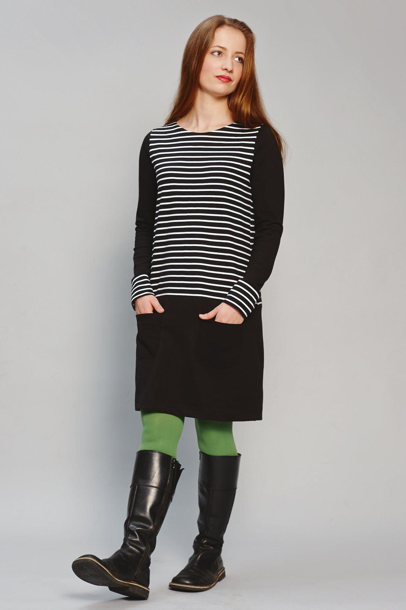 Jerseykleid nähen – Gratis-Schnittmuster und Nähanleitung