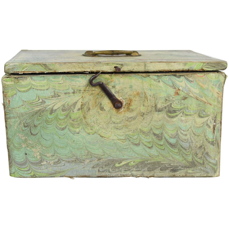 Decorative Boxes Storage 1900S Italian Decoupage On Wooden Storage Box  Wooden Storage
