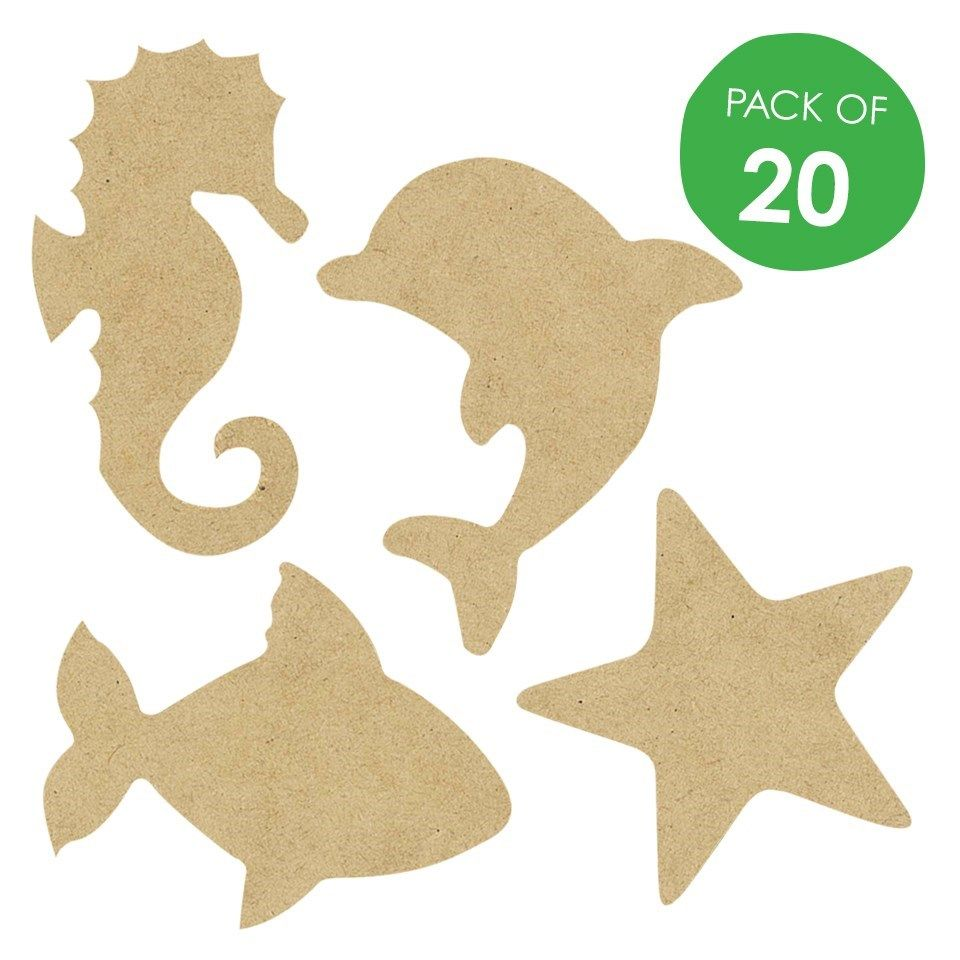 Wooden Sea Animal Shapes - CleverPatch