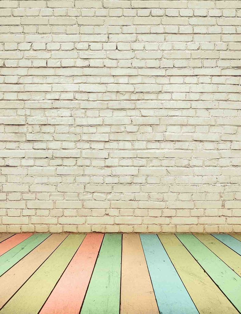 Senior White Brick Wall With Rain Color Wood Floor Backdrop For Baby Photography Brick Wall Backdrop Brick Wall Background Brick Backdrops