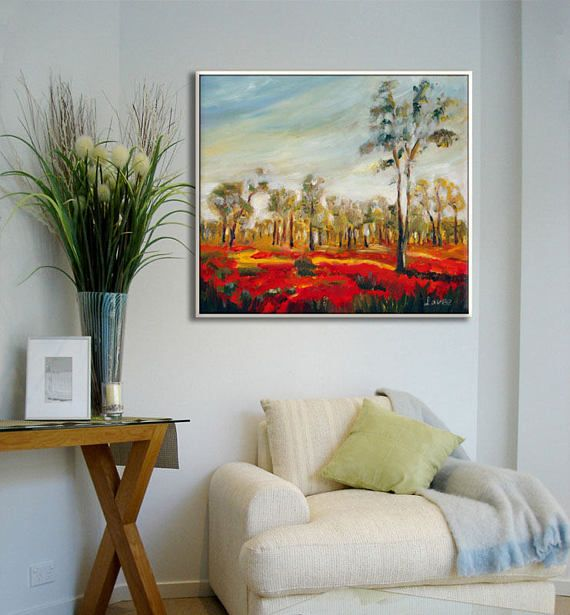 Paintings on canvas flower painting living room large art oil wall new home  my also